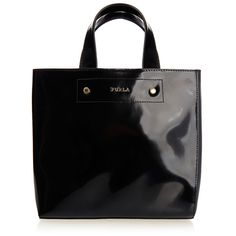 Furla Musa Black Leather Tote (1.716.135 IDR) ❤ liked on Polyvore featuring bags, handbags, tote bags, black, genuine leather tote bag, genuine leather purse, leather tote, tote purses and furla tote
