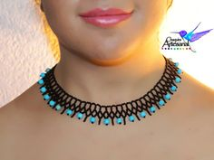 Items similar to Necklace Choker Huichol Mexican turquoise-craft in beadwork-mustard seed-beaded Collar necklace-jewelry hichol-black on Etsy Beaded Necklace Patterns, Beaded Choker Necklace, Diy Necklace, Collar Necklace, Beaded Bracelets, Bead Jewellery, Jewelry Necklaces, Beaded Collar, Black Jewelry