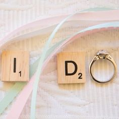 Perfect for any Scrabble-lover.   29 Engagement Ring Instagram Ideas You'll Want To Say Yes To