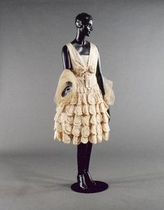 1928 dress attributed to Jeanne Lanvin.