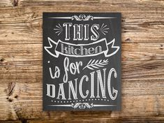 70% OFF THRU 1/14 This Kitchen Is For Dancing by dodidoodles