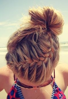 Life's a Beach with this braided/bun up-do!