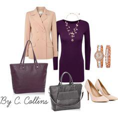 Office Style w/ Jewell by Thirty One by ecomn on Polyvore  Find these amazing bags and so many more at www.mythirtyone.com/CarrieCollins