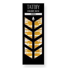 Tattify Orange and White Drip Nail Wraps - Creamsicle (Set of 22)