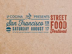 San Francisco Street Food Festival Banner designed by Alex Nassour. the global community for designers and creative professionals. Food Poster Design, Food Design, Streetfood Festival, Italy Food, Weird Food, Food Industry, Food Packaging, Print Ads, Graphic Design Illustration