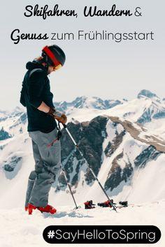 Wenn wir im T-Shirt auf der Terrasse sitzen und am Berg im Firn mit den Skiern wie durch Butter fahren, dann schleicht sich der Frühling in den Bergen ein. Schwingen Sie genüsslich auf den Pisten ein paar Kurven und gönnen Sie sich erst die Käsesuppe und dann den Kaiserschmarrn. Ein Cappuccino im Sonnenbad und nachmittags beim Wandern die Krokusse auf den Wiesen zählen. #kleinwalsertal #visitvorarlberg #SayHelloToSpring Snowboarding, Skiing, Der Bus, Bergen, Rafting, Say Hello, Outdoor Activities, Mount Everest, Butter