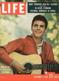 Ricky Nelson - Original Life Magazine from December 1958 - Visit… Ricky Nelson, Life Magazine, Magazine Stand, History Magazine, Movie Magazine, Dona Summer, Life Cover, My Generation, Music Covers