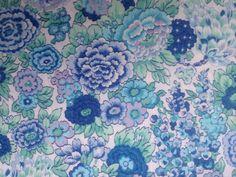 LIBERTY TANA LAWN COTTON 1.00 MTR of ELYSIAN in TURQUISE & BLUES | eBay