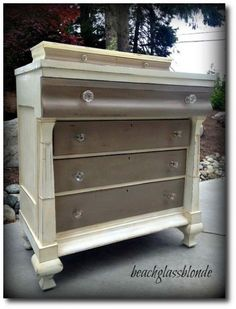 Painting Vintage Furniture | Annie Sloan Coco and Old White