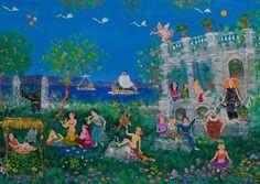 _KALOGEROPOULOU_SOFIA . famous greek painter Painter Artist, Artist Art, Greek Paintings, Art Paintings, Contemporary Decorative Art, Mediterranean Art, 10 Picture, Greek Art, Naive Art