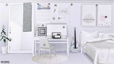 2752 Followers Gift • Bedroom Mirror by SimplyStyling TS2 Retexture by me • 2016 NYCDesign.co Calendar ( High Detail ) - Mesh by Theveronarelapse TS3 Recolors by me • Renu Office frame - Mesh by MS91...