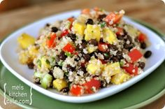 Mango and Black Bean Quinoa Salad