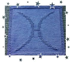 Pisces Zodiac Symbols, Dishcloth, Pisces, Squares, Knitting Patterns, How To Make, Bags, Handbags, Knit Patterns