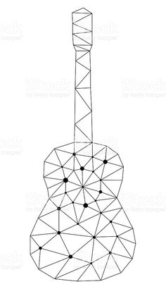Geometric Shapes Art, Geometric Drawing, Geometric Designs, Guitar Vector, Bullet Journal Cover Ideas, String Art Patterns, Diy Arts And Crafts, Art Drawings Sketches, Free Vector Art