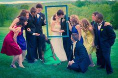 bridesmaids picture fun wedding
