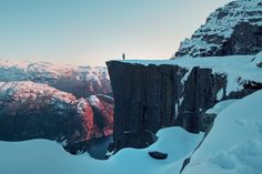 Tumblr #paradise #colors #pale #landscape #white #travel #person #norway #adventure #earth #aesthetic #nature #preikestolen #place #mountains #blue #sky #heaven #FF #photooftheday #outdoor #random