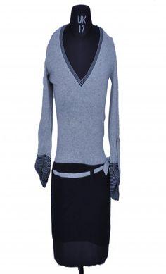 UCB Grey & Black Cardigan