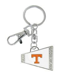 White Tennessee Volunteers Cheer Megaphone Key Chain