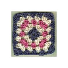 Basic Granny Square -- A pattern from the library of the JPF Crochet Club