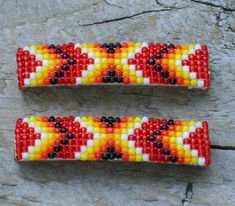 Native American Jewelry Multi-Bead Barrettes