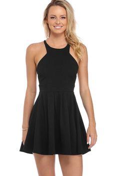 57554d7fc2d FINAL SALE- Black Back On Track Dress