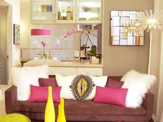 orange and hot pink interiors/images   For an even bolder approach paint an accent wall or an entire room in ...