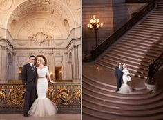 Unbeleivably stylish real wedding - Erika and Robbie in San Francisco, California Budget Wedding, Wedding Themes, Our Wedding, Wedding Planning, Wedding Dresses, Wedding Stuff, Wedding Ideas, Unique Weddings, Real Weddings
