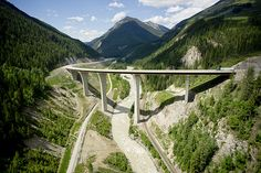 The Park Bridge - the Trans Canada Highway traverses the Kicking Horse Canyon