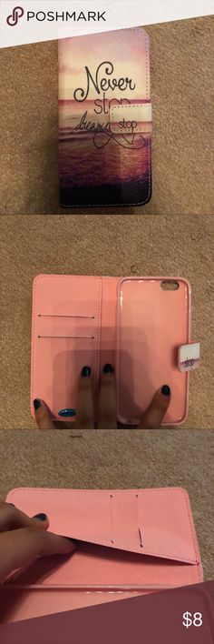 Iphone 6/6s case Open up wallet case. 2 card holders and 1 money holder. Never used Other