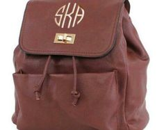Brown Fashion Backpack with FREE Monogramming - Edit Listing - Etsy
