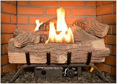 Unvented Gas Fireplace Logs - A Whether a wood-burning fireplace or a gas-burning fireplace, warmth radiated to the space Ventless Gas Logs, Vented Gas Fireplace, Wood Burning Fireplace Inserts, Gas Fireplace Logs, Gas Fireplaces, Fireplace Glass, Fireplace Ideas, Best Electric Fireplace, Patio Store