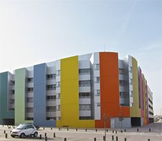 41 SOCIAL DWELLINGS EIN VALLECAS MADRID  MADRID / SPAIN / 2006 by Paredes Pino Arquitectos #architecture #housing  #colours