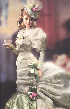 haine de papusi | Colectia Barbie Porcelain Victorian Tea