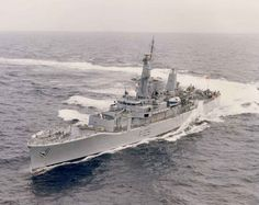 HMS Leander F109 post Ikara conversion Royal Navy Frigates, Naval History, Coal Mining, Navy Ships, Battleship, Warfare, Corvette, Sailing Ships, British