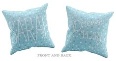 Personalized Decorative Pillows for Kids Blue by AddieandGeorge