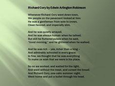 Richard Cory by Edwin Arlington Robinson - An Analysis with Lesson Plan Ideas