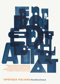 Tipoteca Italiana Poster by Letterpress Monster