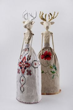 Clay Lady Deers by Harem6, via Flickr  really creative work