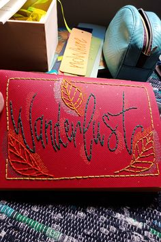 embroidery on paper handmade notebook Handmade Notebook, Notebooks, Sunglasses Case, Cactus, Embroidery, Paper, Needlepoint, Notebook, Laptops
