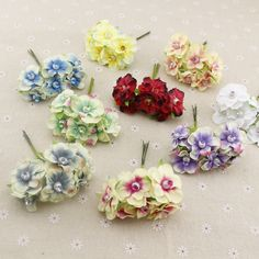 6 pcs mutiara sutra murah Buatan Bunga garland kepala karangan bunga Untuk pernikahan mobil dekorasi bouquet dekorasi korsase bunga palsu