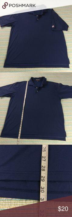 Peter Millar XL Summer Comfort Navy Blue Polo Peter Millar Mens Sz XL Summer Comfort Poly Spandex Navy Blue Golf Polo Shirt Peter Millar Shirts Polos