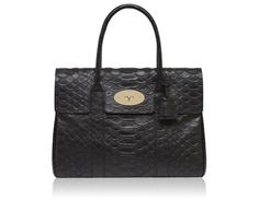 Mulberry - Bayswater in Black Silky Snake Nappa