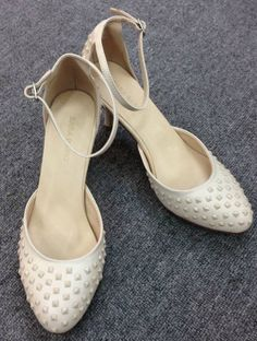Beige Ankle Strap High Heeled Shoes 65.00