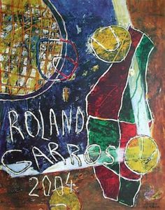 Art Print: Roland Garros by Daniel Humair : Tennis Posters, Sports Posters, Tennis Drawing, Tennis Pictures, Wall Pictures, Pop Art, Tennis Photography, Tennis Tournaments, Frames