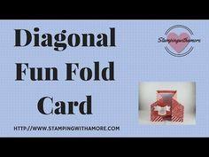 Diagonal Fun Fold Card - YouTube