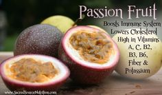 Did you know that passion fruit contains Vitamins A and C? #fruit #facts
