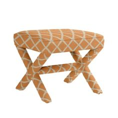 Click through all the different fabric swatches to see which one looks best on this stool - pretty cool!  Parker X Bench