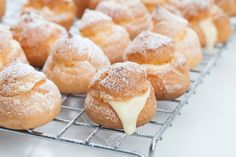 Easy French Food: Profiteroles (Cream Puffs) Recipe from scratch Profiteroles, Eclairs, Thermomix Desserts, No Bake Desserts, Dessert Recipes, French Dishes, French Food, Easy French Recipes, Traditional French Recipes