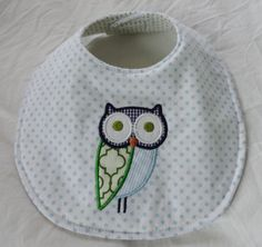Applique Owl Bib