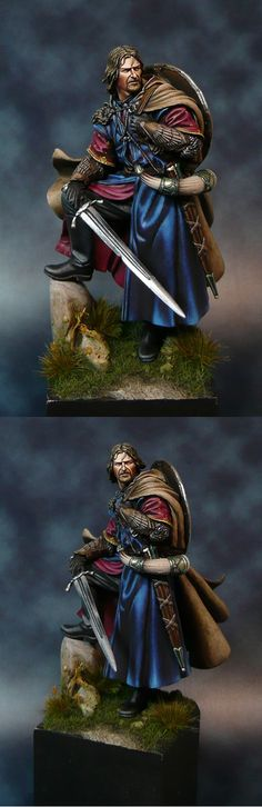 Boromir miniature from the Lord of the Rings